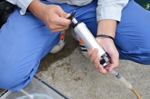 土壌汚染(土壌ガス採取状況4)